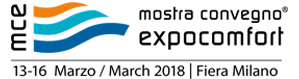 Mostra Convegno Expocomfort (MCE) 2018 en Milán